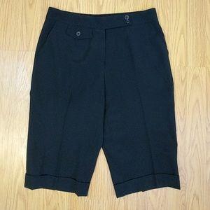 Escada Black Wool Trouser Bermuda Shorts Small